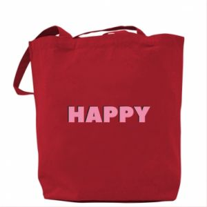 Torba Happy inscription