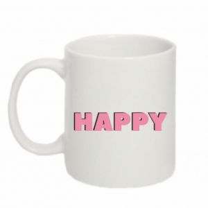 Kubek 330ml Happy inscription