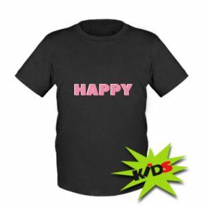 Dziecięcy T-shirt Happy inscription