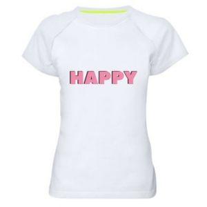 Damska koszulka sportowa Happy inscription