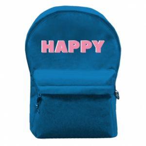 Plecak z przednią kieszenią Happy inscription