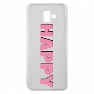 Etui na Samsung J6 Plus 2018 Happy inscription