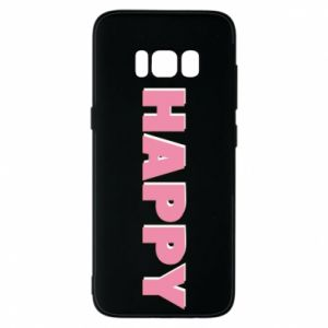Etui na Samsung S8 Happy inscription