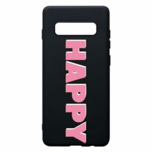 Etui na Samsung S10+ Happy inscription