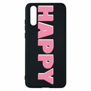 Etui na Huawei P20 Happy inscription