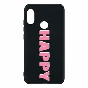 Etui na Mi A2 Lite Happy inscription