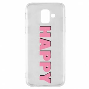 Etui na Samsung A6 2018 Happy inscription