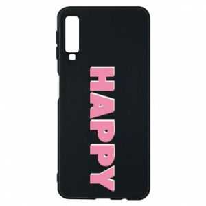 Etui na Samsung A7 2018 Happy inscription