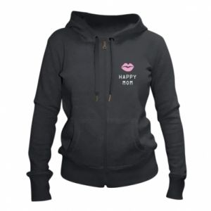 Women's zip up hoodies Happy mom - PrintSalon