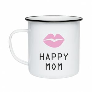 Enameled mug Happy mom - PrintSalon