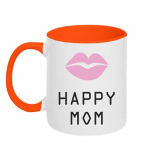 Two-toned mug Happy mom - PrintSalon