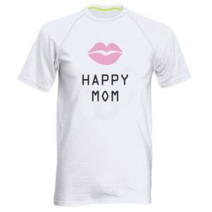Men's sports t-shirt Happy mom - PrintSalon