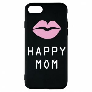 Phone case for iPhone 7 Happy mom - PrintSalon
