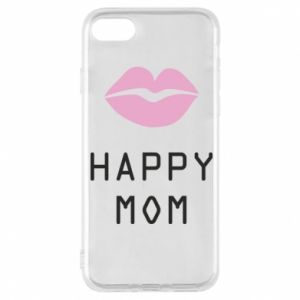 Phone case for iPhone 8 Happy mom - PrintSalon