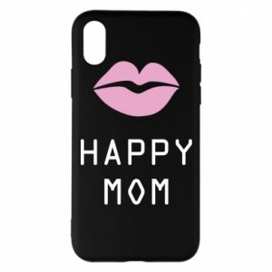 Phone case for iPhone X/Xs Happy mom - PrintSalon