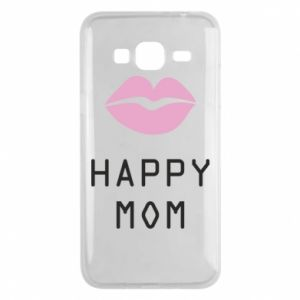 Phone case for Samsung J3 2016 Happy mom - PrintSalon