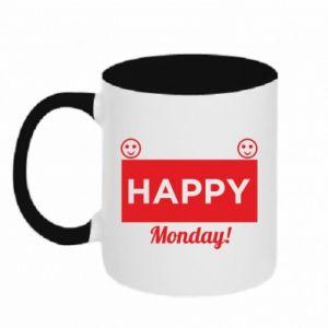 Kubek dwukolorowy Happy Monday