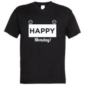 Męska koszulka V-neck Happy Monday