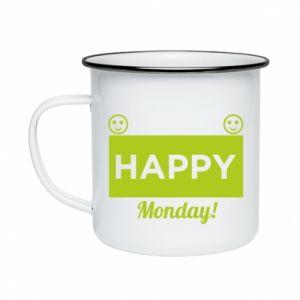 Kubek emaliowane Happy Monday