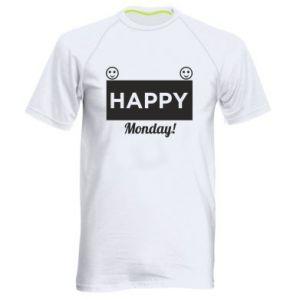 Męska koszulka sportowa Happy Monday
