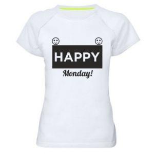 Damska koszulka sportowa Happy Monday