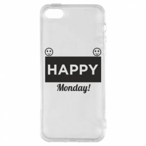 Etui na iPhone 5/5S/SE Happy Monday