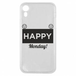 Etui na iPhone XR Happy Monday