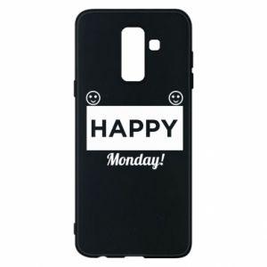 Etui na Samsung A6+ 2018 Happy Monday