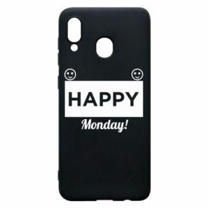 Etui na Samsung A20 Happy Monday