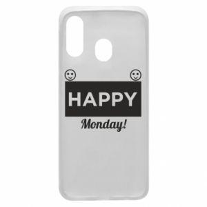 Etui na Samsung A40 Happy Monday