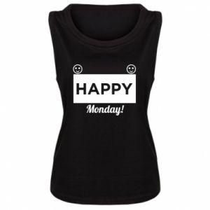 Damska koszulka bez rękawów Happy Monday