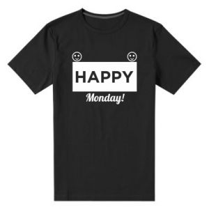 Męska premium koszulka Happy Monday