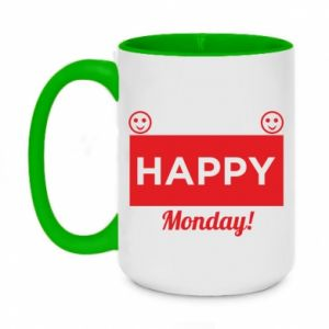 Kubek dwukolorowy 450ml Happy Monday