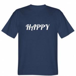 Koszulka męska Happy, napis