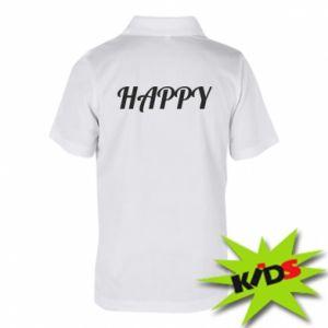 Koszulka polo dziecięca Happy, napis