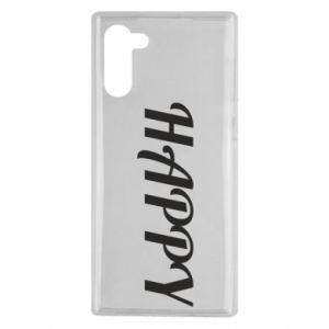 Etui na Samsung Note 10 Happy, napis