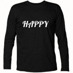 Koszulka z długim rękawem Happy, napis