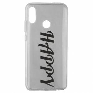 Etui na Huawei Honor 10 Lite Happy, napis