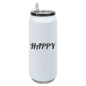 Puszka termiczna Happy, napis