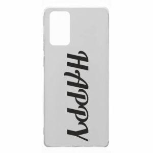 Etui na Samsung Note 20 Happy, napis