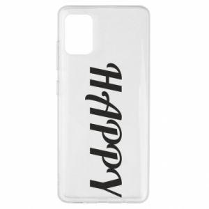 Etui na Samsung A51 Happy, napis