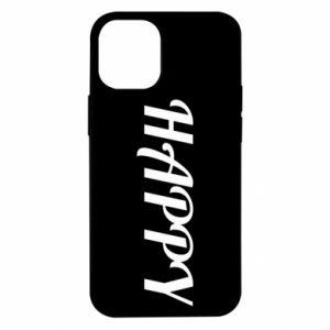 Etui na iPhone 12 Mini Happy, napis