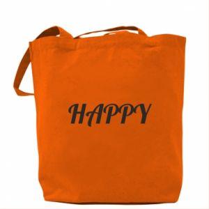 Torba Happy, napis