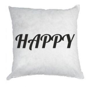 Poduszka Happy, napis