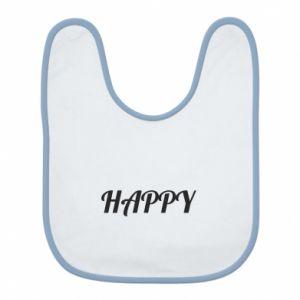 Śliniak Happy, napis