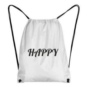 Plecak-worek Happy, napis