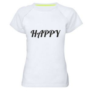 Damska koszulka sportowa Happy, napis