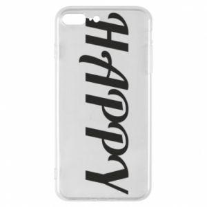 Etui na iPhone 7 Plus Happy, napis