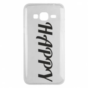 Phone case for Samsung J3 2016 Happy, inscription