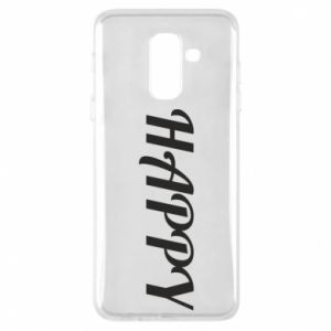 Phone case for Samsung A6+ 2018 Happy, inscription